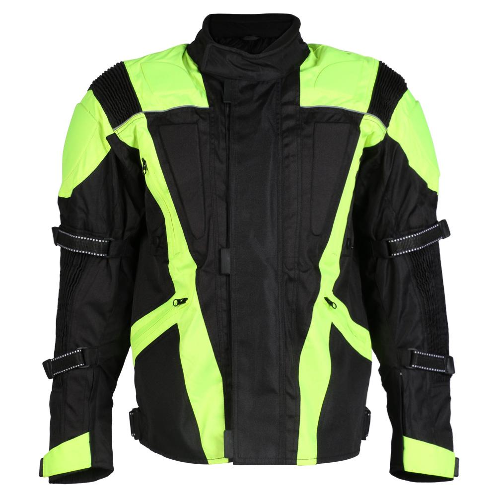 Turin Black / Hi-Vis Waterproof CE Approved Jacket