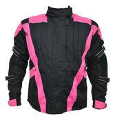 Turin Black / Pink Waterproof CE Approved Jacket