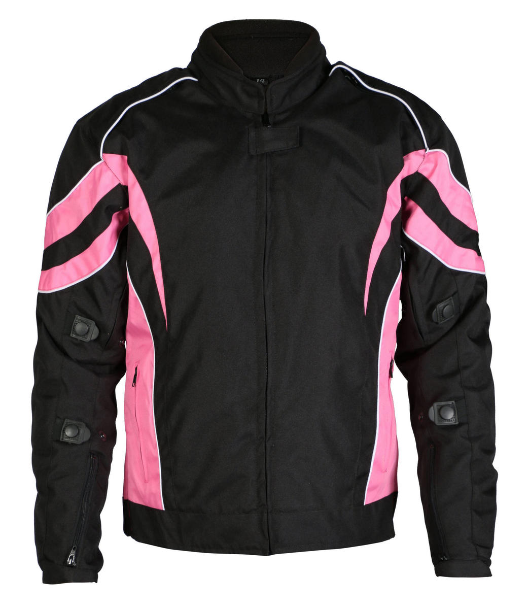 Turin Womens Black & Pink Armoured Jacket