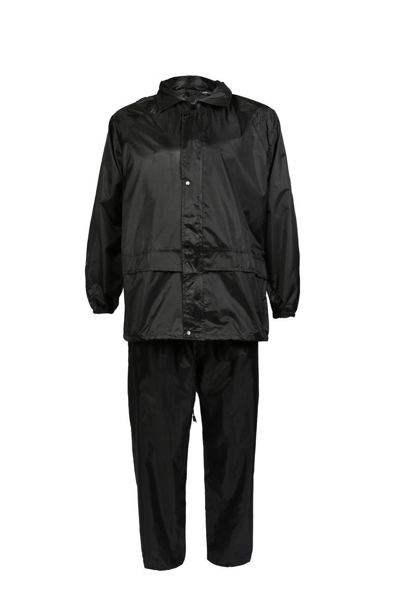 Black Waterproof Jacket & Trousers