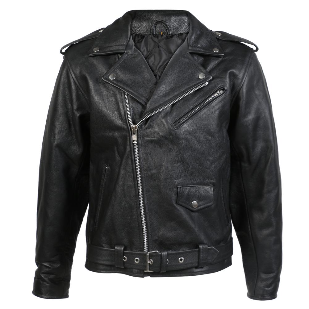 Mens Leather Brando Jacket