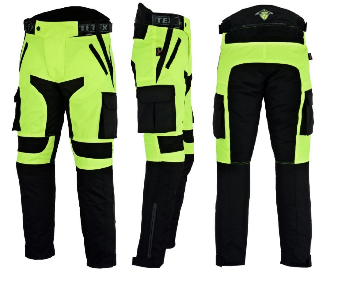 Texpeed Black & Hi-Vis Waterproof Motorcycle Trousers