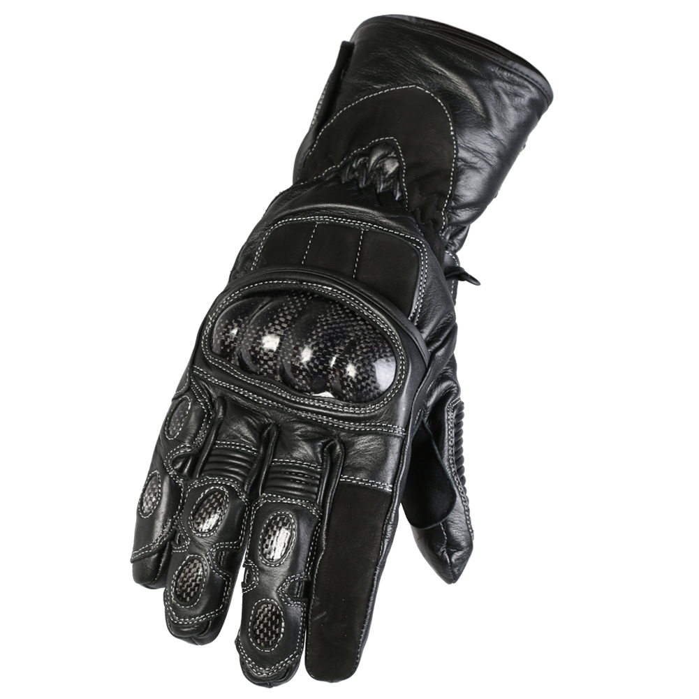 Texpeed Kevlar Black Leather Waterproof Gloves