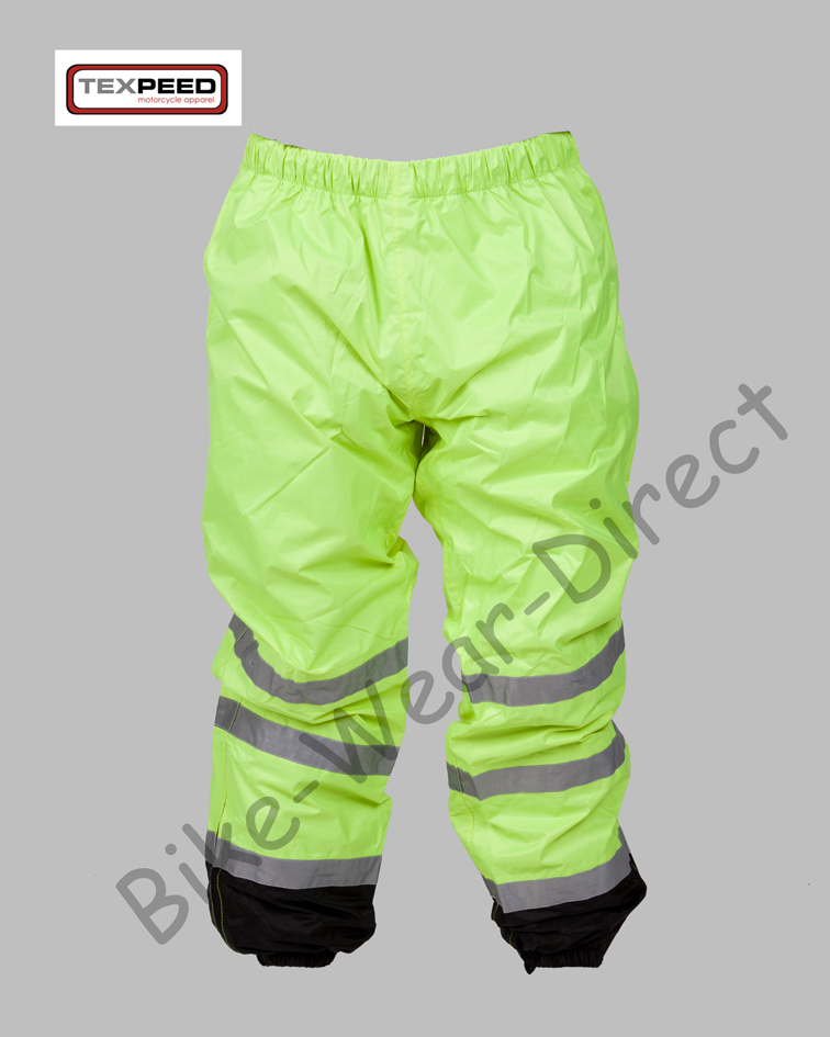 Texpeed Hi-Vis Elasticated Waterproof Over Trousers