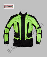 Black / Yellow Hi Vis Waterproof and CE Armoured Motorbike Jacket
