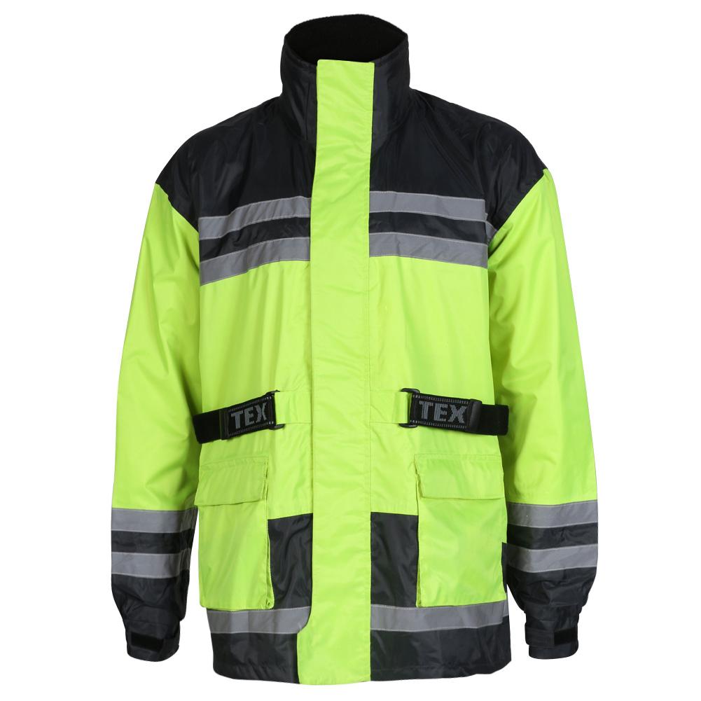 Texpeed Hi-Vis Elasticated Waterproof Over Jacket