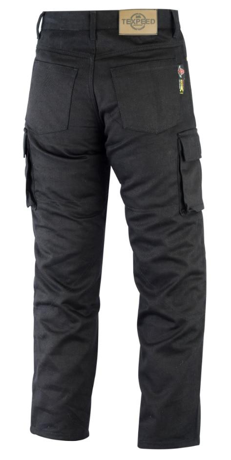 Texpeed Black Cargo Kevlar Jeans