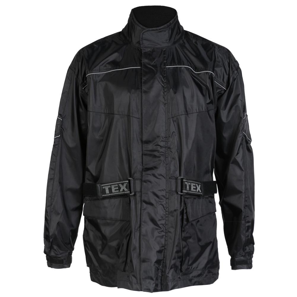 Texpeed Black Elasticated Waterproof Rain Jacket