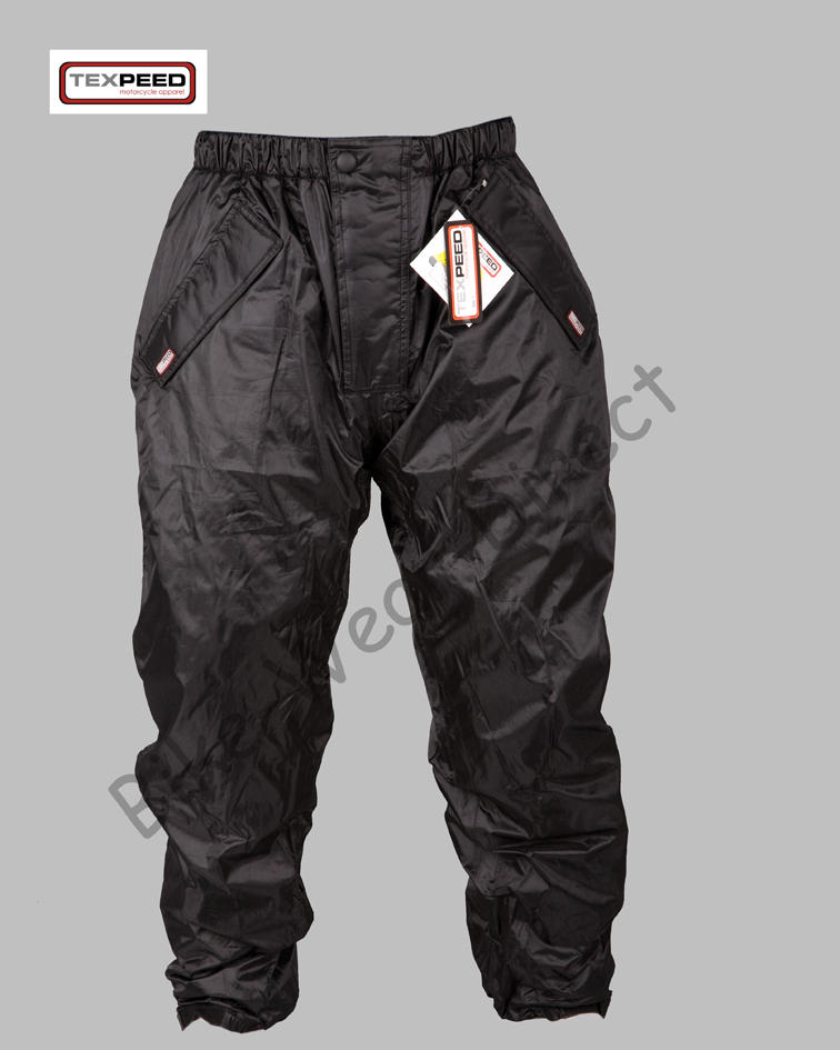 Tex Black Elasticated Waist Waterproof Motorbike Cycle Over Trousers 550-001