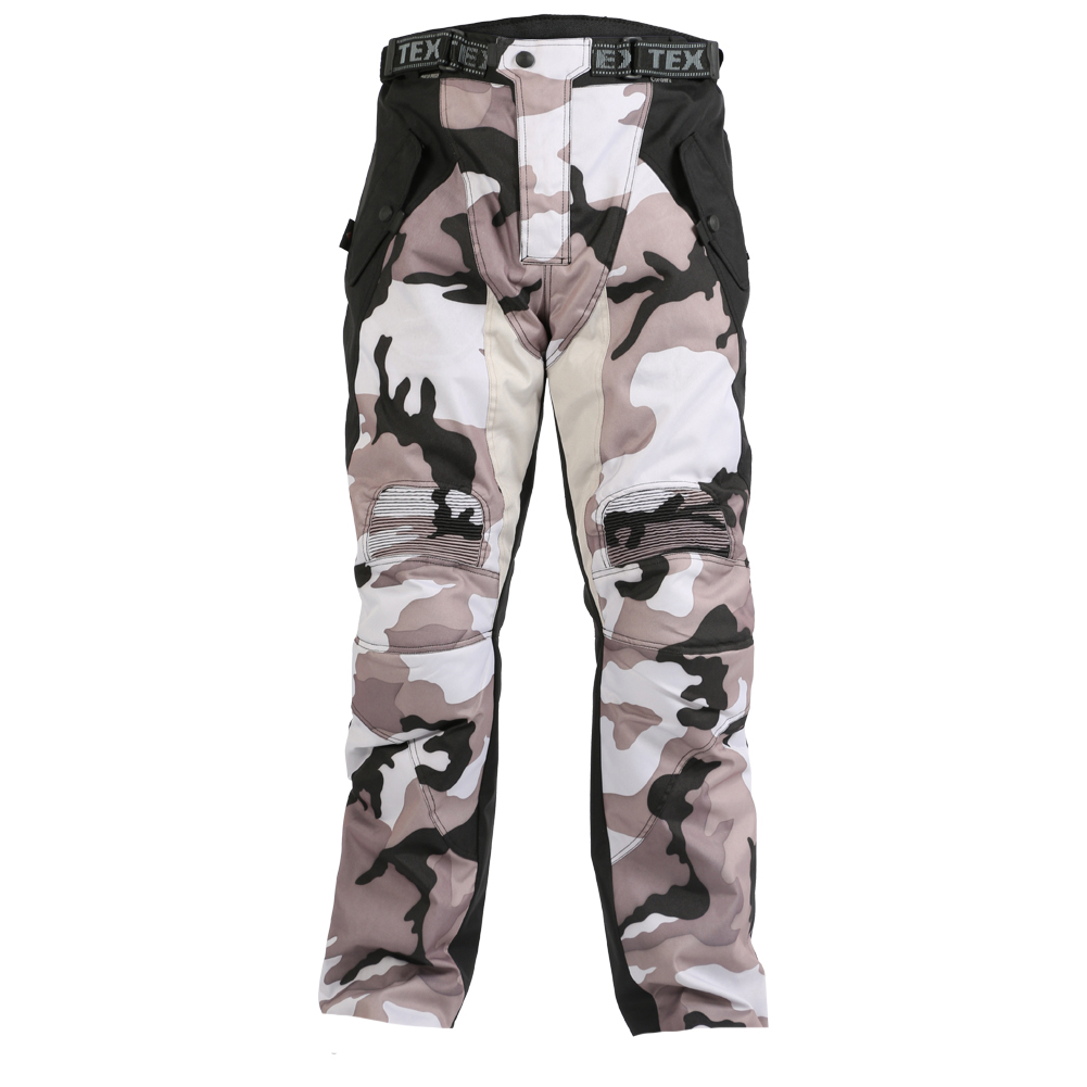 Spring and summer thin snow white Camouflage pants outdoor multi pocket overalls casual hip hop trousers free shipping-in Cargo Pants from Men's Clothing A product photo of Camo high tights, White camo .