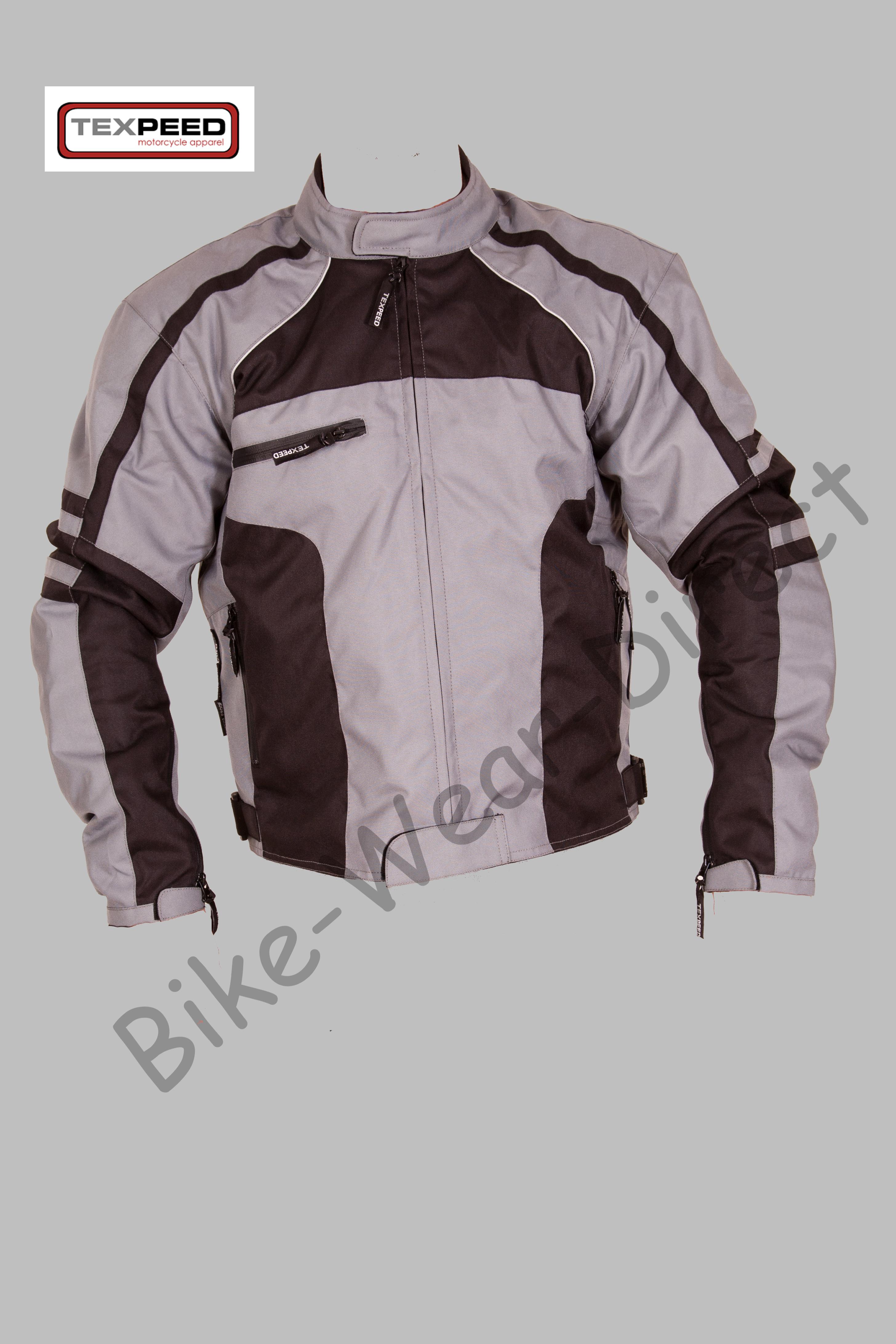 hommes noir gris veste d 39 hiver en cordura motard toutes. Black Bedroom Furniture Sets. Home Design Ideas