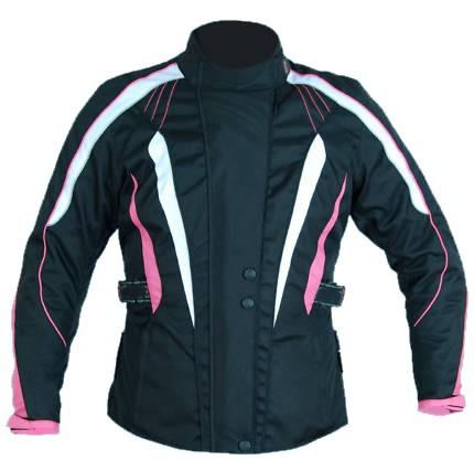 Turin Womens Black & Pink Armoured Jacket