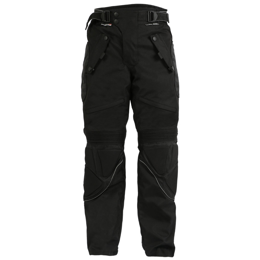 Turin Mens Black Armoured Trousers