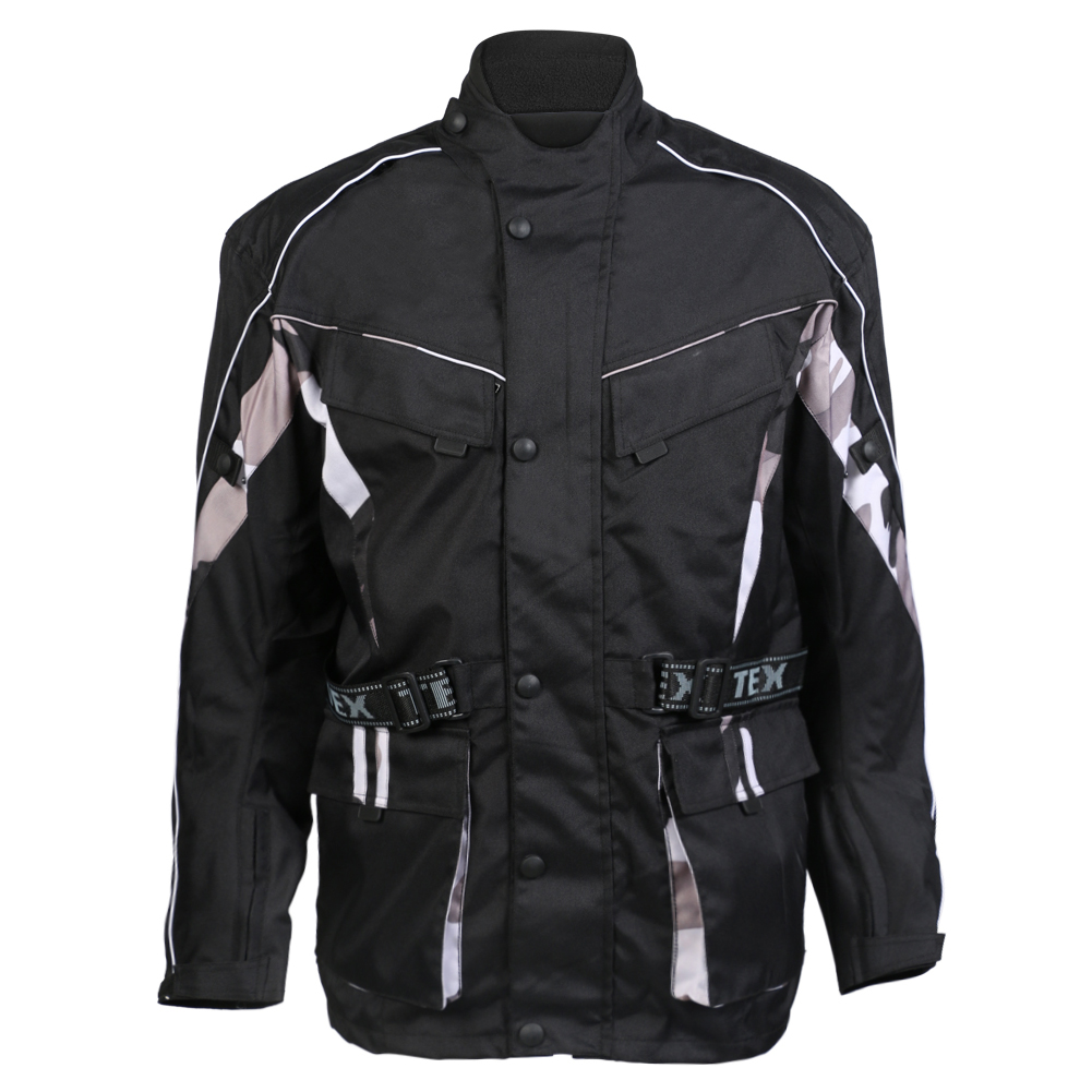 Texpeed Black & Camo Armoured Long Length Jacket