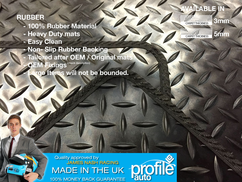 Rubber car floor mats uk - Car Mats Toyota Estima Black Fully Tailored Floor