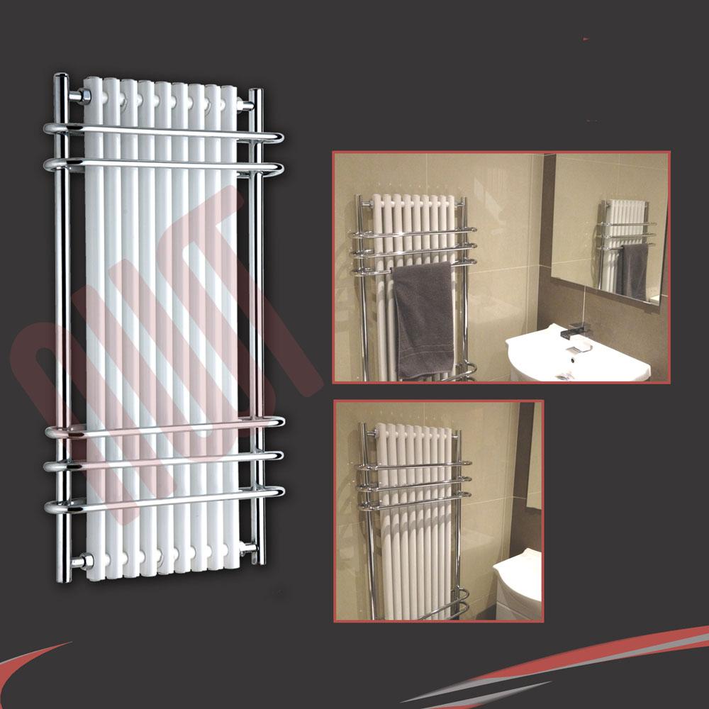 Kudox Electric Towel Rail 400mm X 700mm Chrome: Designer Heated Towel Rail Chrome Bathroom Towel Warmers