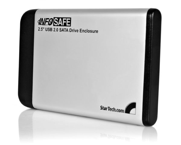 StarTech.com 2.5in Silver USB 2.0 External Hard Drive Enclosure for SATA HDD - SAT2510U2