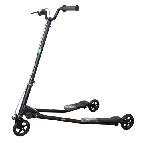 3 rad schwarz faltbar tri x gro e scooter swing speeder. Black Bedroom Furniture Sets. Home Design Ideas