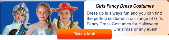 Dress up is always fun and you can find the perfect costume in our range of Girls Fancy Dress Costumes for Halloween, Christmas or any event