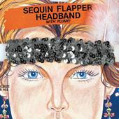 Sequin Flapper Headpiece Black