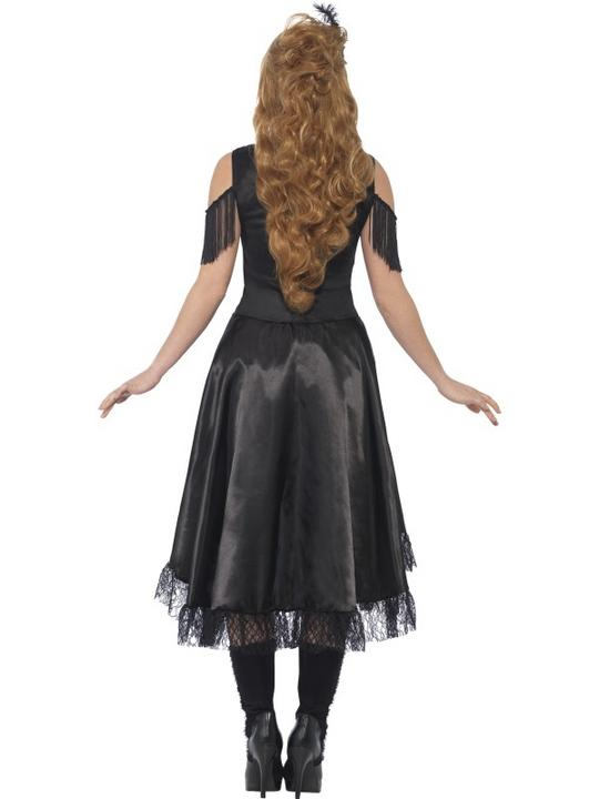 Women's Saloon Girl Fancy Dress Costume Thumbnail 2