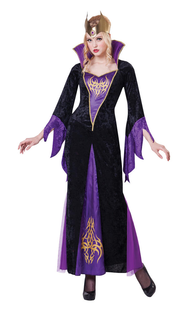 Womens Halloween Sorceress Costume Ladies Horror Fancy Dress Outfit