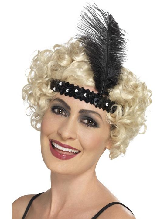 Flapper Headband Black