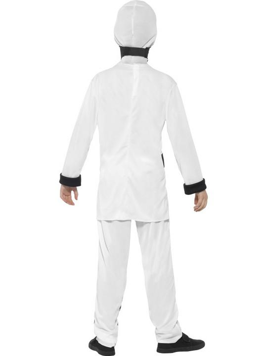 Boy's White Ninja Assassin Fancy Dress Costume Thumbnail 2