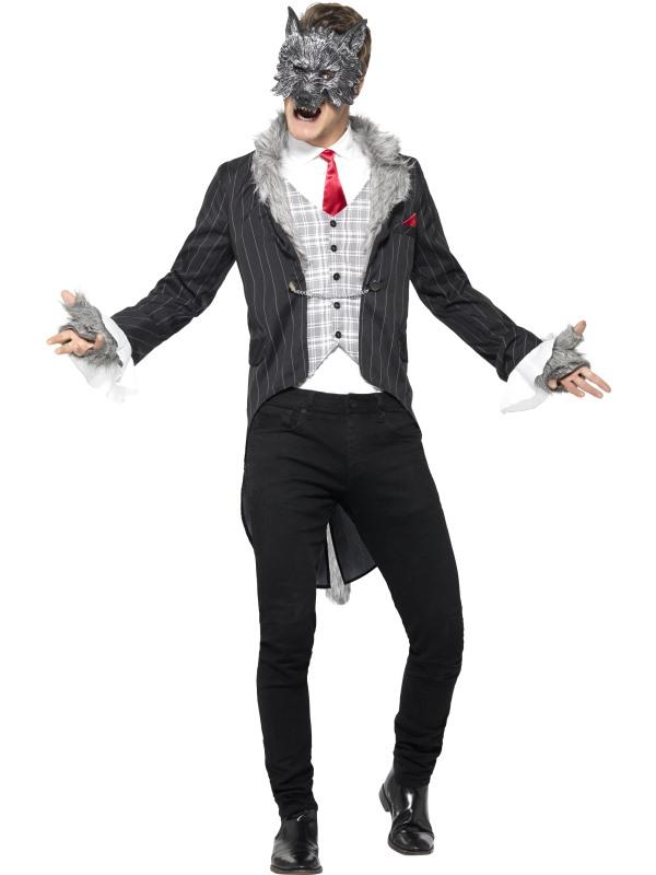 Men's Deluxe Big Bad Wolf Fancy Dress Costume
