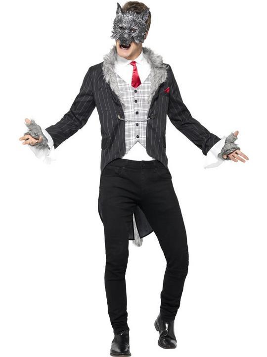Men's Deluxe Big Bad Wolf Fancy Dress Costume Thumbnail 1