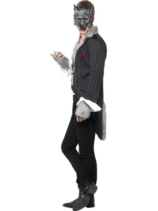 Men's Deluxe Big Bad Wolf Fancy Dress Costume Thumbnail 3