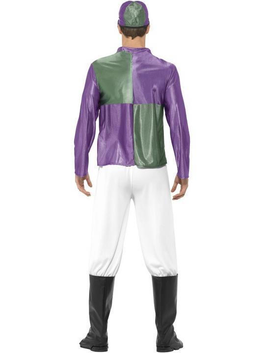 Men's Jockey Fancy Dress Costume Thumbnail 2