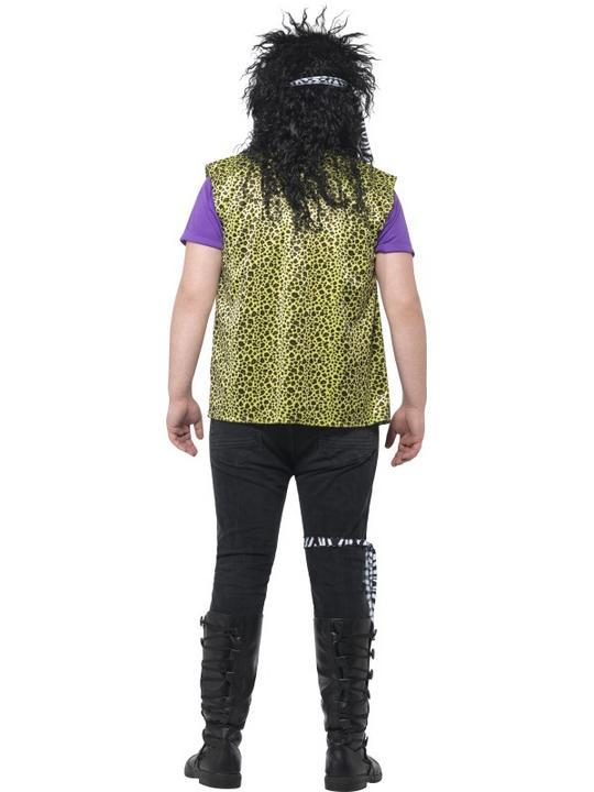 Men's Curves 80's Rock Star Costume Fancy Dress Costume Thumbnail 2