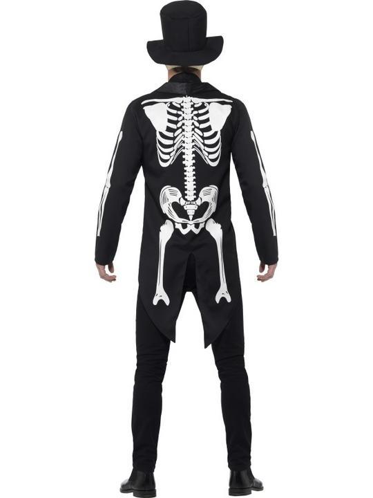 Men's Day of the Dead Se±or Skeleton Fancy Dress Costume Thumbnail 2