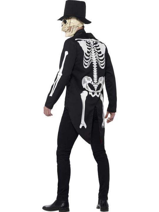 Men's Day of the Dead Se±or Skeleton Fancy Dress Costume Thumbnail 3