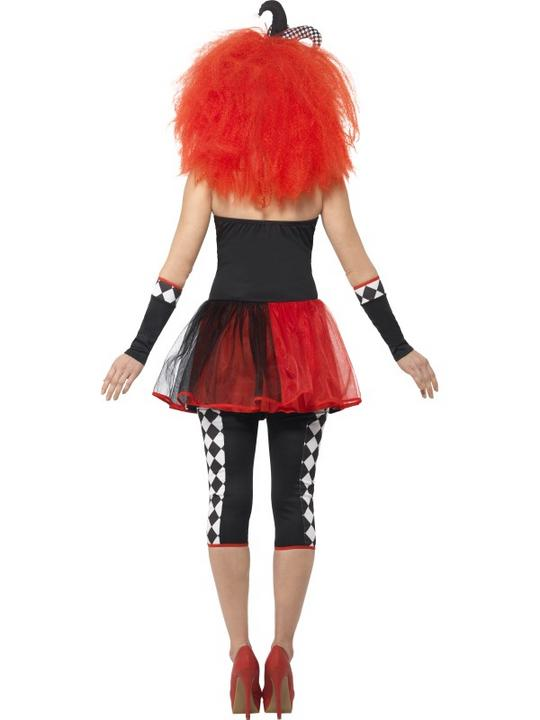 Women's Twisted Harlequin Fancy Dress Costume Thumbnail 2