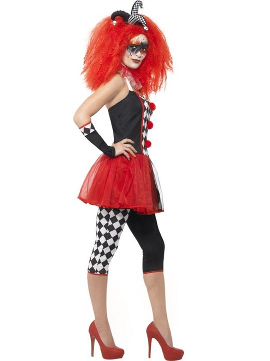 Women's Twisted Harlequin Fancy Dress Costume Thumbnail 3