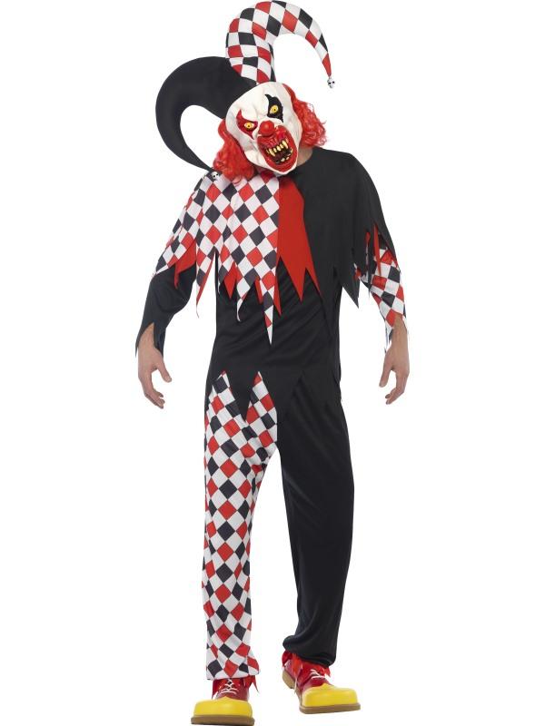 Men's Crazed Jester Fancy Dress Costume