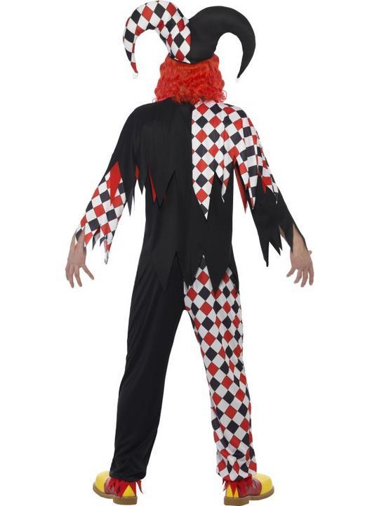 Men's Crazed Jester Fancy Dress Costume Thumbnail 2