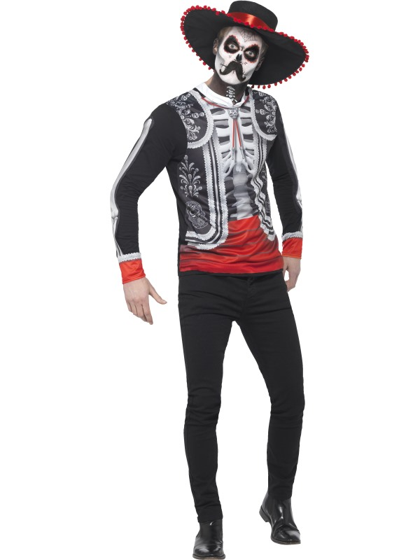 Men's Day of the Dead El Se±or Fancy Dress Costume
