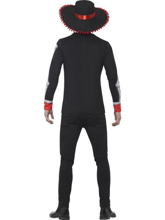 Men's Day of the Dead El Se±or Fancy Dress Costume Thumbnail 2