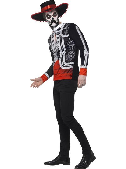 Men's Day of the Dead El Se±or Fancy Dress Costume Thumbnail 3