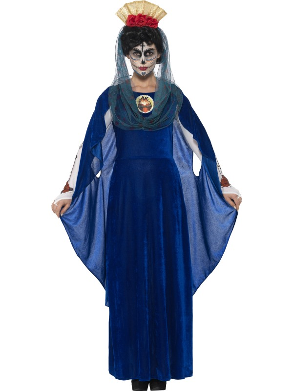 Women's Day of the Dead Sacred Mary Fancy Dress Costume