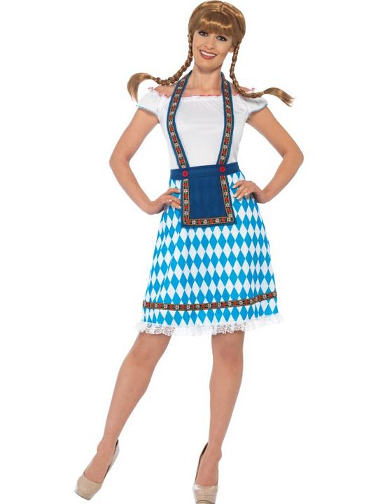 Women's Bavarian Maid Fancy Dress Costume Thumbnail 1