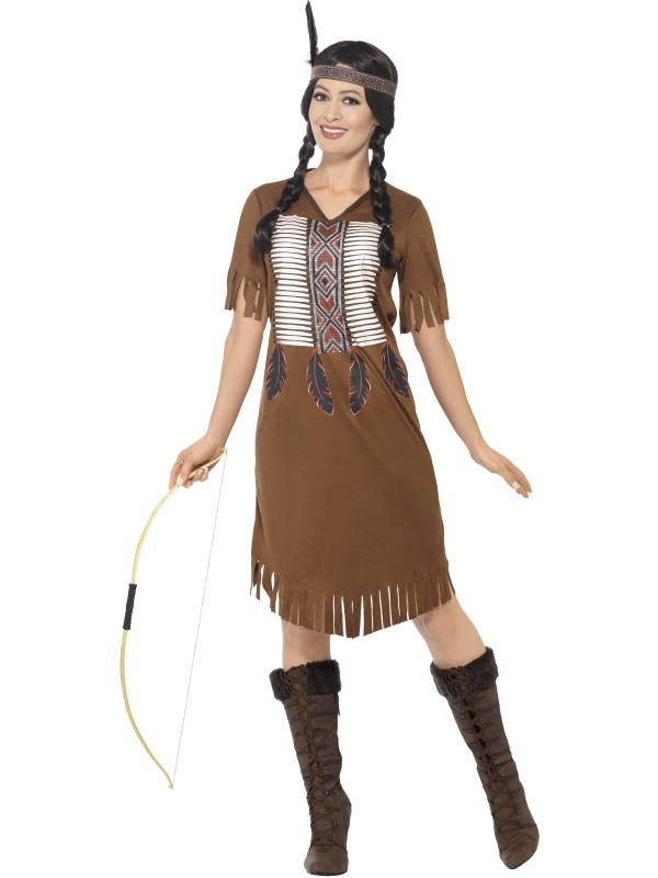 Women's Native Western Warrior Princess Fancy Dress Costume
