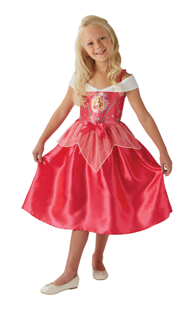 Girl's Disney Fairytale Sleeping Beauty Fancy Dress Costume