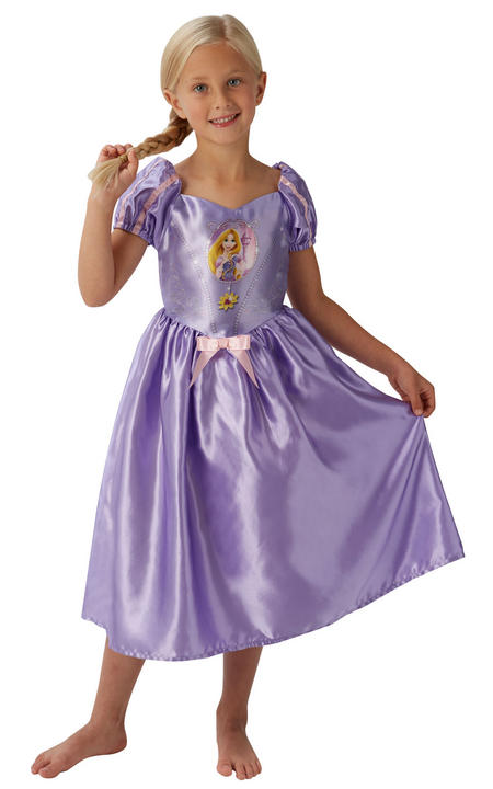 Girl's Disney Fairytale Rapunzel Fancy Dress Costume Thumbnail 1