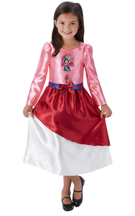 Girl's Disney Fairytale Mulan Fancy Dress Costume Thumbnail 1