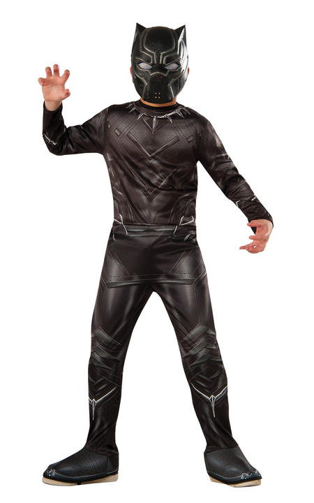 Boy's Marvel Classic Black Panther Fancy Dress Costume Thumbnail 1