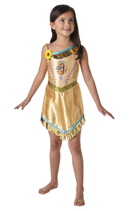 Girl's Disney Fairytale Pocahontas Fancy Dress Costume Thumbnail 1